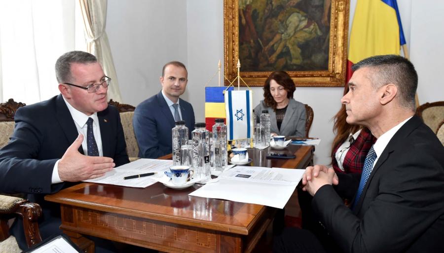 Întâlnirea ministrului Adrian Oros cu E.S. David Saranga, ambasadorul Statului Israel la București si cu ambasadorul Ungariei la București, stiri agricole, madr, subventii apia