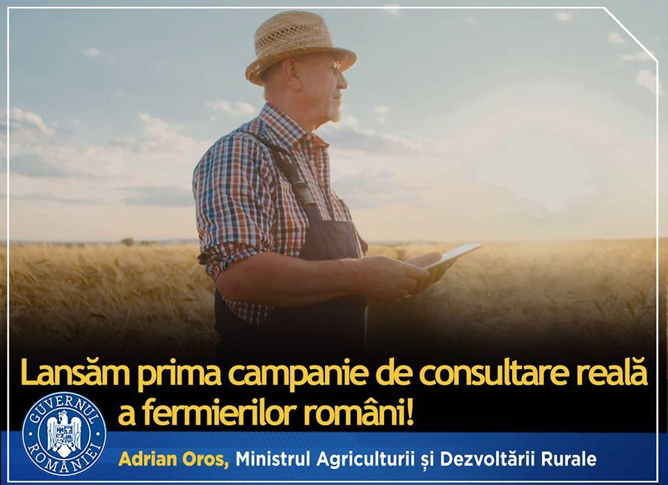 OROS: Ascultăm vocea fermierilor români! Esti fermier? Semnaleaza o problemă sau propune o soluție în agricultură direct MADR-ului