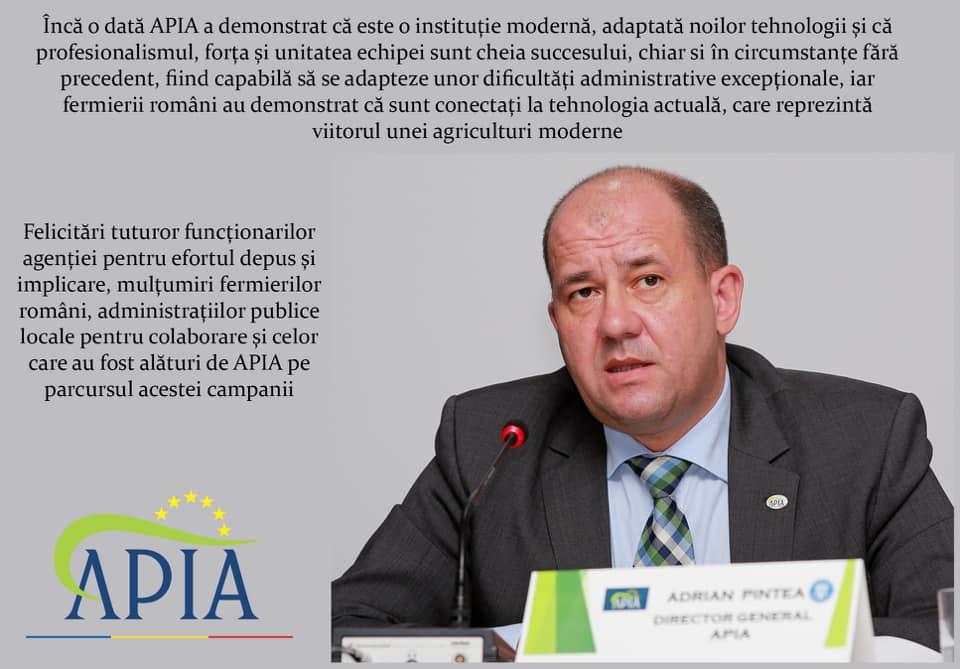 Termen final pentru semnarea fizică a cererii de subvenții: 1 octombrie; Plata avansului pentru Campania 2020 incepe la 16 octombrie. stiri agricole