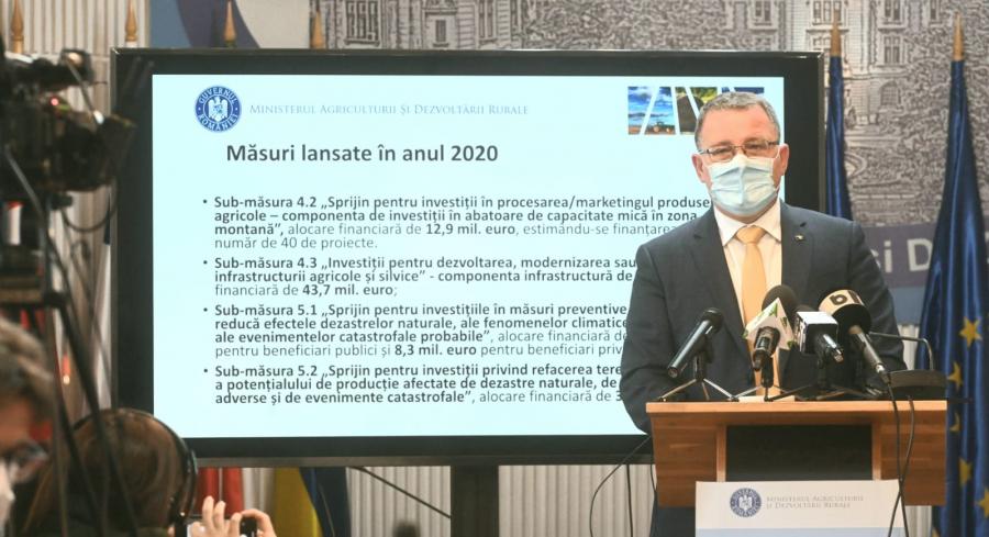 Ministrul Adrian Oros a susținut joi, 5 noiembrie 2020, o conferință de presă la sediul MADR.