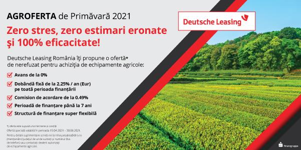 Campania de Primăvară 2021 pentru achiziția de echipamente agricole se prelungește până pe 30 iunie 2021. ofertă specială