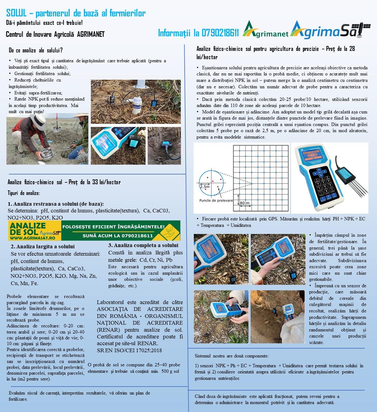 Oferta Agrimanet pentru analize sol